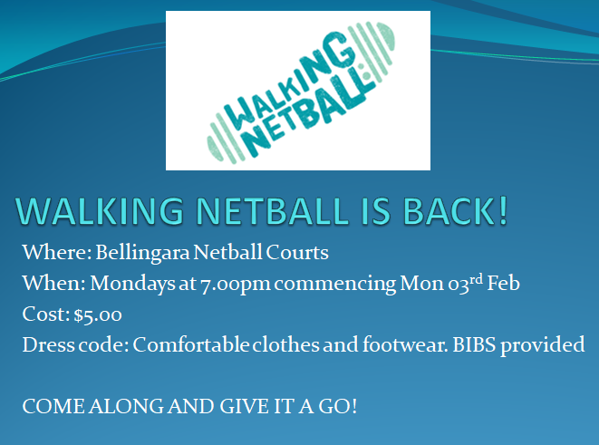 Walking Netball Jan 20